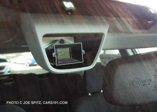 Close Up Of Subaru S Optional Eyesight Camera