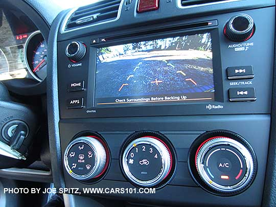 2016 Subaru Forester 2 5i Model S 6 Audio System Showing The Full Console With Rear