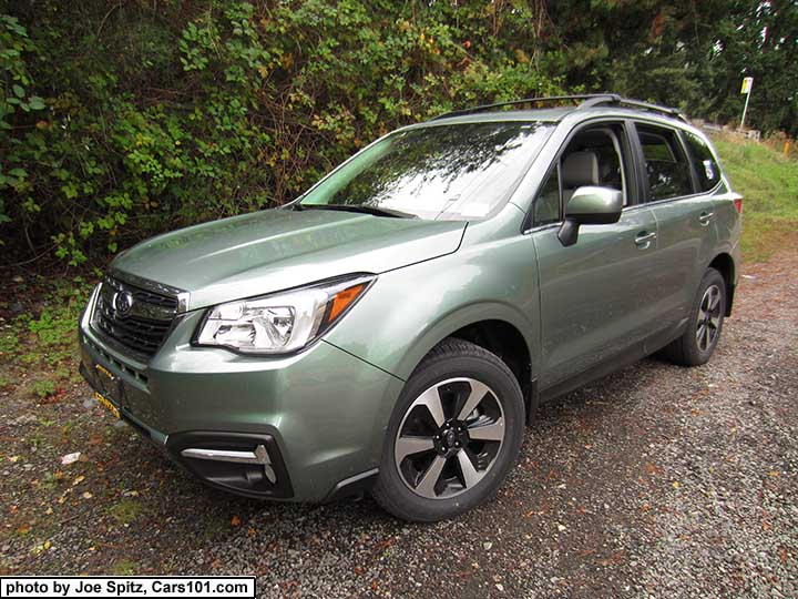 2017 Subaru Forester Jasmine Green Color Limited Model Shown