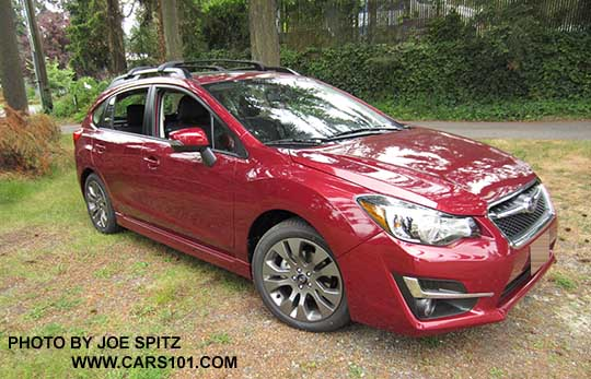 2017 Impreza Sport 5 Door Venetian Red Color All Sports Have Roof Rack Rails