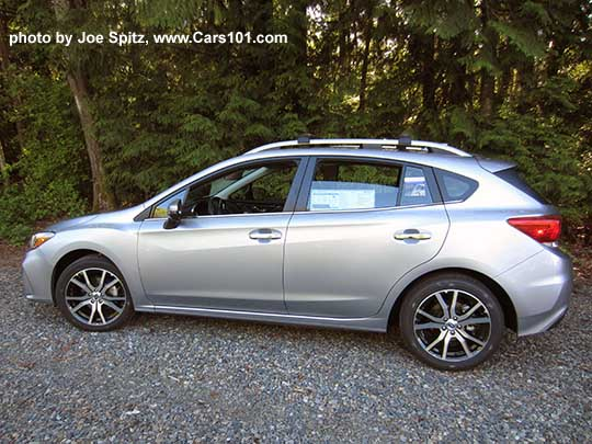 Side View 2017 Subaru Impreza Limited 5 Door Hatchback Has 17 Machined Alloys Silver