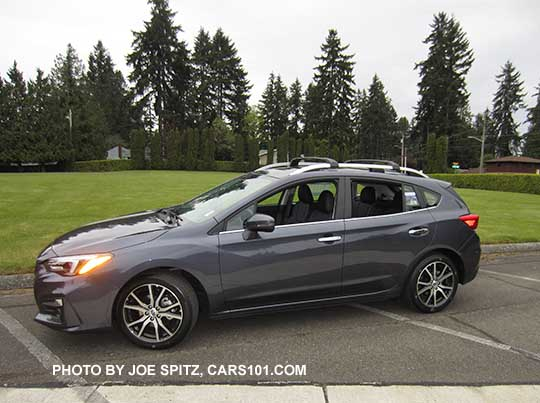 2017 Impreza Limited 5 Door Hatchback Carbide Gray Color Has Machined 17 Alloys