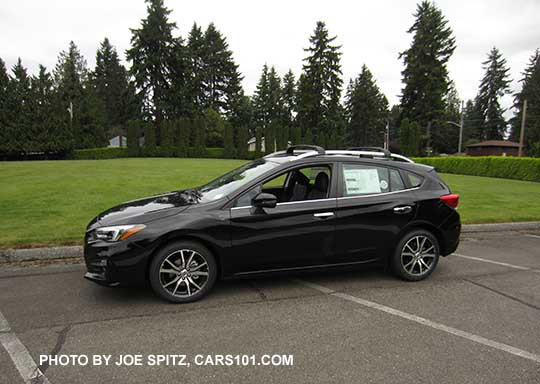 Crystal Black 2017 Subaru Impreza Limited 5 Door Hatchback With Silver Roof Rails