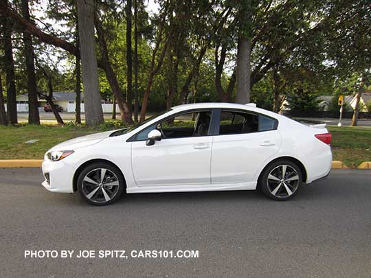 2017 Subaru Impreza Sport 4 Door Sedan Has 18 Machined Alloys Body Colored Mirrors