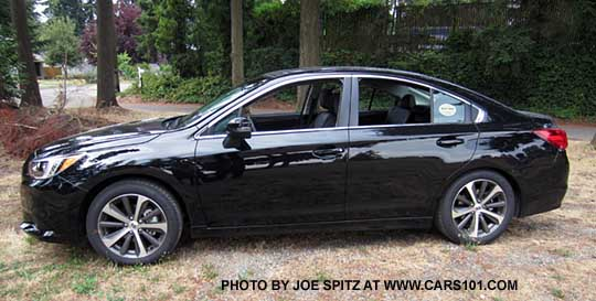 Side View 2017 Subaru Legacy Limited Sedan Black Shown