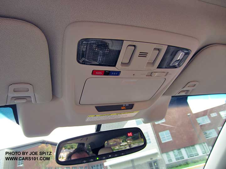 2016 Subaru Outback Overhead Console With Optional Eyesight Cameras And Standard Starlink Connected Services On