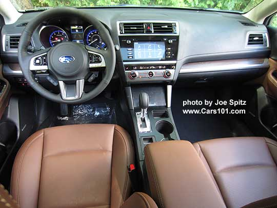 2017 Subaru Outback Touring Dashboard Java Brown Perforated Leather Trimmed