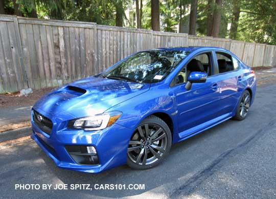2016 Subaru Wrx Limited Wrblue Color Shown With Optional Side Moldings