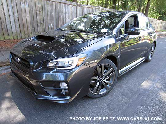 Front View 2017 Wrx Limited Dark Gray Color Shown