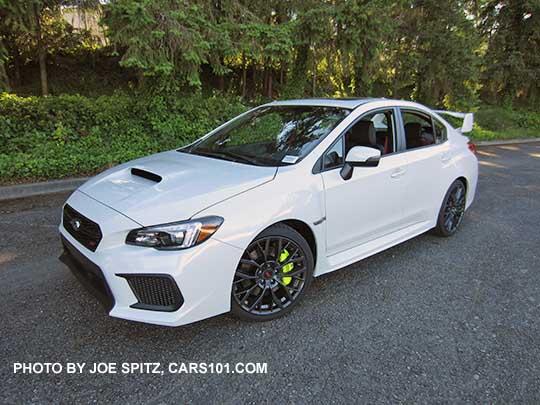 2018 White Subaru Sti Limited
